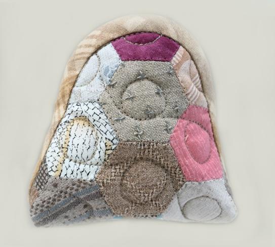 hexagon purse ヘキサゴンのポーチ パッチワークキルト