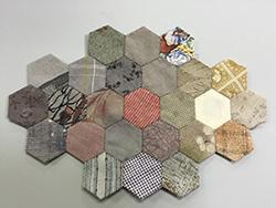 hexagon purse  ヘキサゴン ポーチ  パッチワーク Patchwork