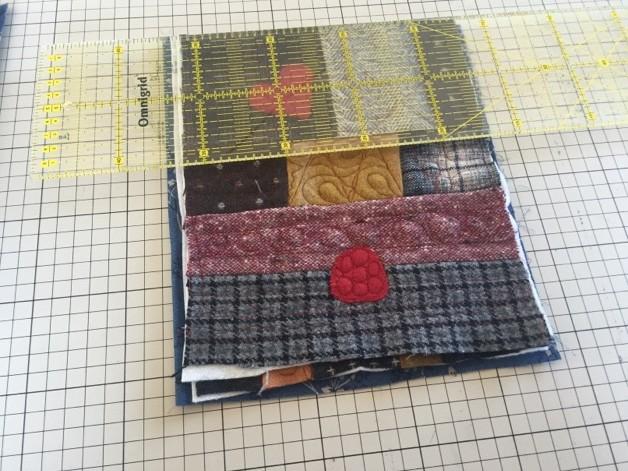 patchwork ウール バッグパッチワークミシンキルト 中沢フェリーサpatchwork quilt nakazawa felisa quilting