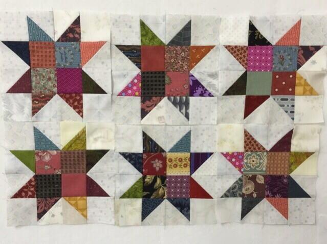 Star パッチワークパターン 流れ星JUKI 中沢フェリーサNakazawa Felisa Quilts(2)