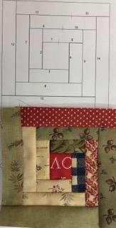 ログキャビンキルト Log Cabin quilt ヘリンボーンキルトバッグHerringbone Quilt ヘリンボンステッチ triangle purse zipper テトラポーチ