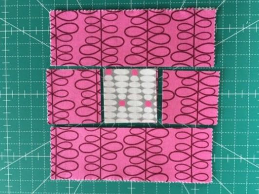ログキャンビン Log cabin patchwork quilt Jukiパッチワーク ミシンキルト パターン キルト 中沢 フェリーサ