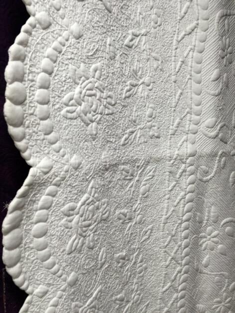 中沢フェリーサキルトミシンキルトパッチワークキルトホワイトキルトNakazawa Felisa white Quilt Patchwork Quilt