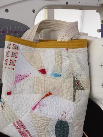 Boro modernSashiko needlework bag Patchwork Quilt Nakazawa Felisa ボロ modern 刺し子 パッチワーク キルト ミシンキルト 中沢フェリーサ バッグ