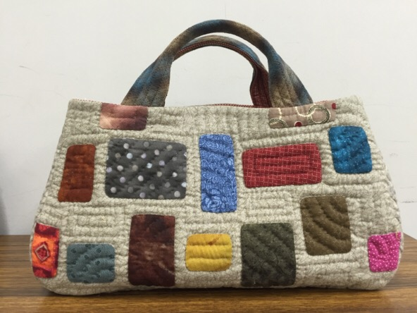 Square quilt block 中沢フェリーサ パッチワーク ミシンキルト パターン バック Quilt Patchwork Nakazawa Felisa  Quiltblock bag