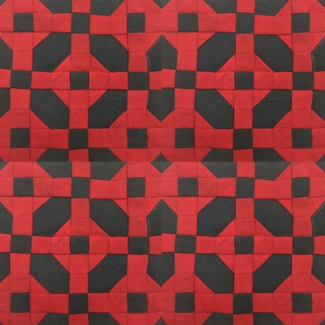 Sanada Maru 真田丸 quilt block パッチワークミシンキルト中沢フェリーサNakazawa Felisa