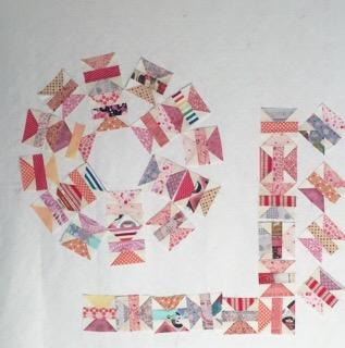 Beggar quilt block 乞食 こじき パッチワークミシンキルト patchwork Quilt Spool Quilt block スプールのパッチワークパターン  nakazawa felisa中沢フェリーサ