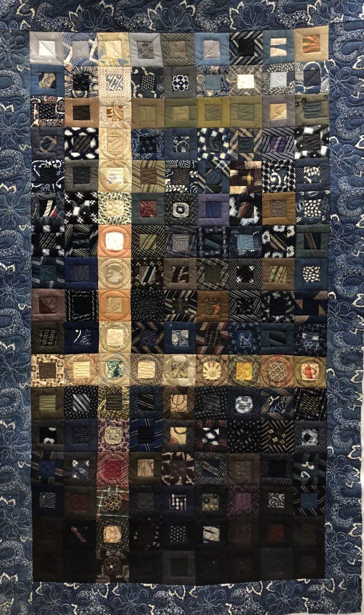 herringbon quiltログキャビンキルト Logcabin quilt ログキャビンのキルトEl patchwork