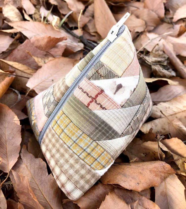 パッチワークキルト patchwork quilt log cabin ログキャビン