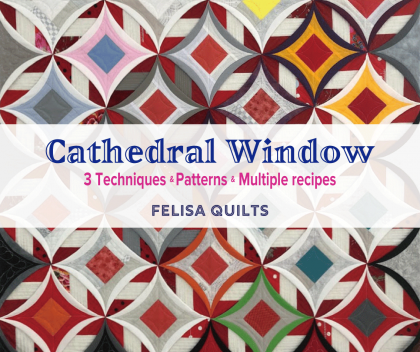 How to make a cathedral window Cathedral window Quilts Cathedral window pattern