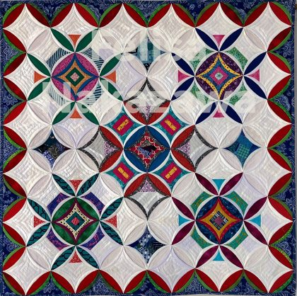 cathedral window quilt カテドラルウィンドウキルト #vfwquilts #doubleweddingringquiltsvfw